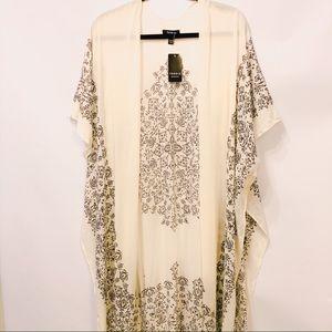 Torrid Ivory & Black Long Line Kimono